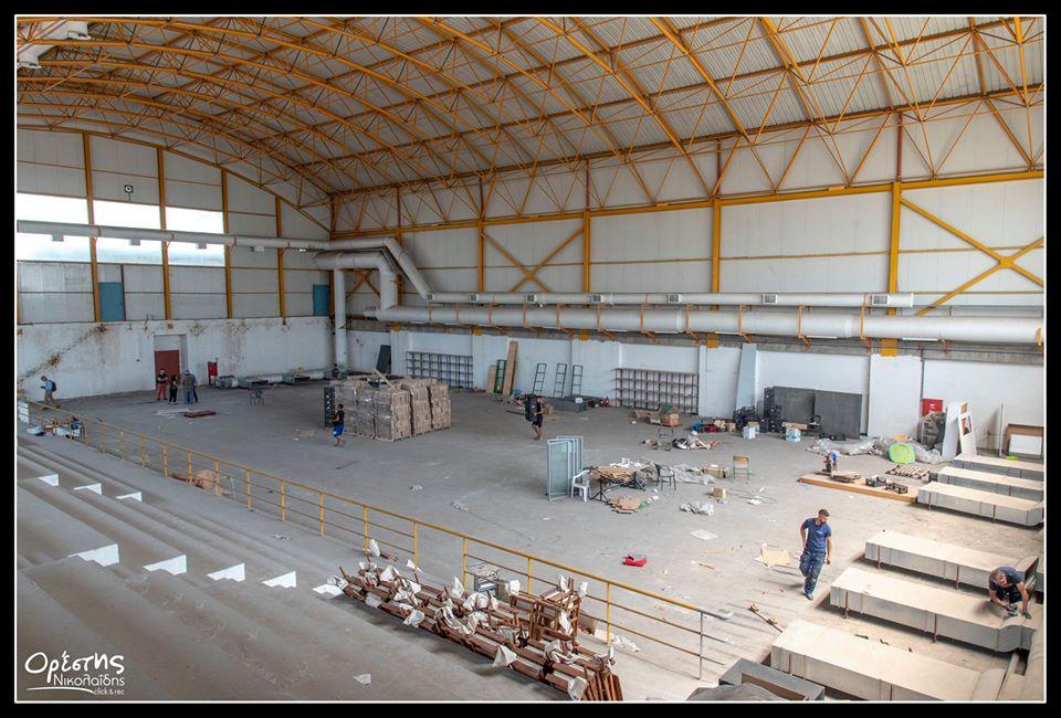 Το κλειστό γήπεδο στον πολυχώρο «Μάνος Λοΐζος», επιτέλους ολοκληρώνεται και λειτουργεί!