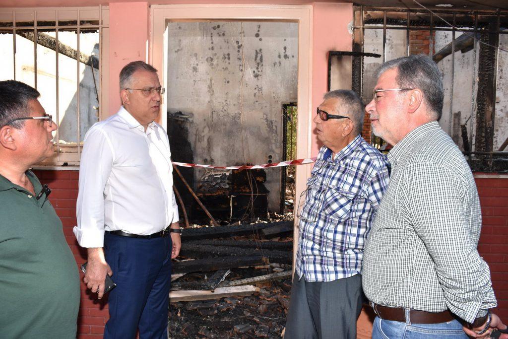 Το υπουργείο Εσωτερικών θα αποκαταστήσει τις ζημιές στα Δημοτικά Σφαγεία Ταύρου
