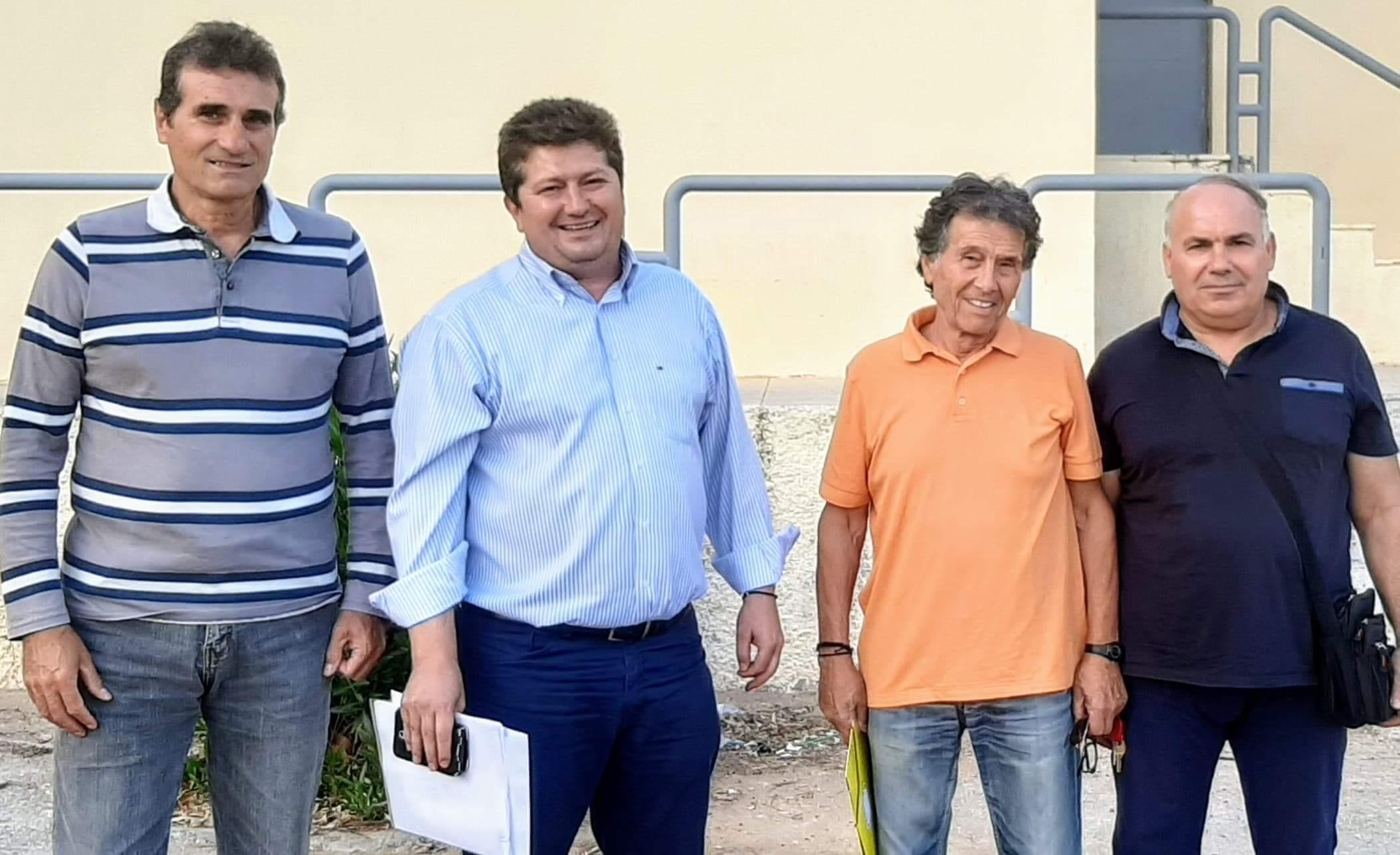 Συνάντηση Αντιδημάρχου Αθλητισμού Θεόδωρου Β Τερζή με το ΔΣ των Βετεράνων ποδοσφαιριστών Περάματος !!!