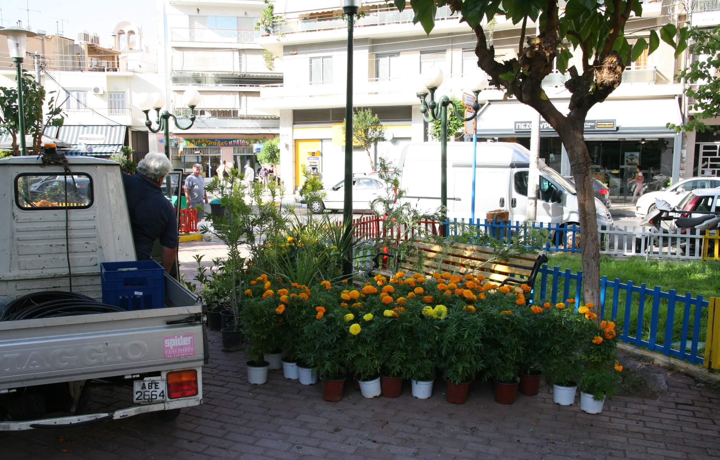 Συνεχίζονται στον Πειραιά οι παρεμβάσεις ανάπλασης πρασίνου και εξωραϊσμού σε κήπους