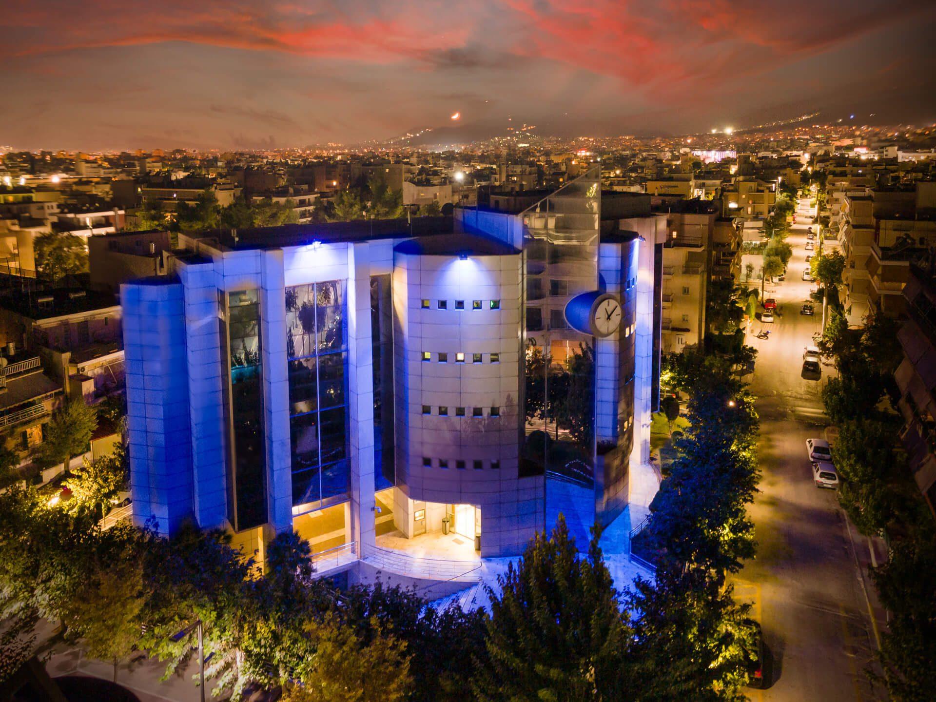 Το Δημαρχείο Ιλίου φωτίστηκε με το Μπλε των Ηνωμένων Εθνών