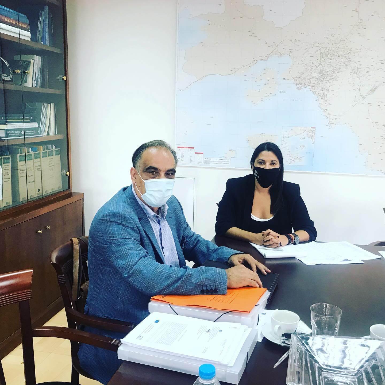 Συνάντηση Σταυρούλας Αντωνάκου με τον Δήμαρχο Περάματος, Γιάννη Λαγουδάκη