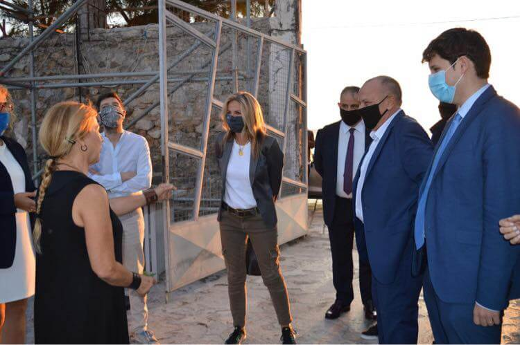 Επίσκεψη Μαρέβα Γκραμπόφσκι-Μητσοτάκη στην Ελευσίνα