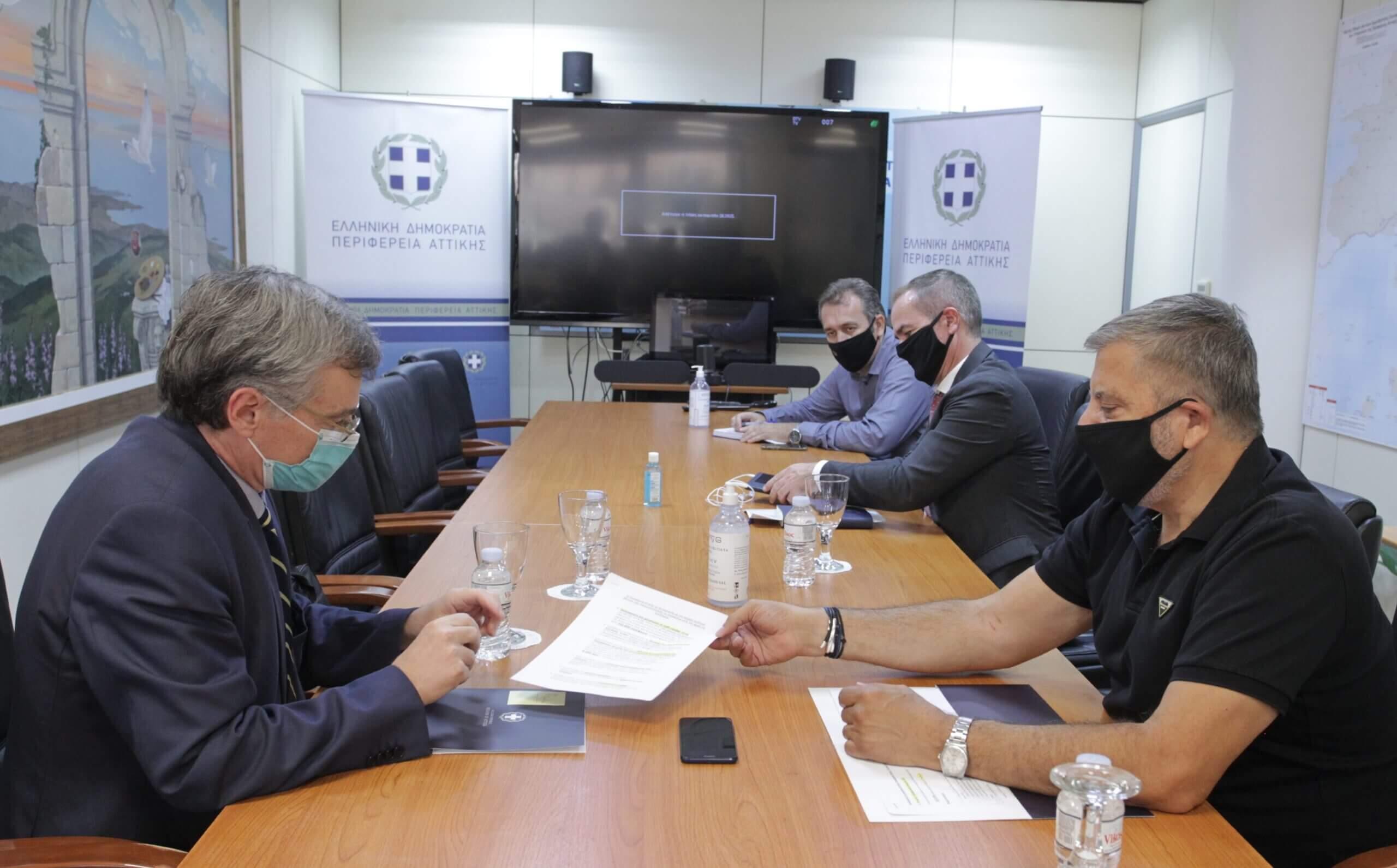Συνάντηση Περιφερειάρχη Γιώργου Πατούλη με τον λοιμωξιολόγο, Σωτήρη Τσιόδρα