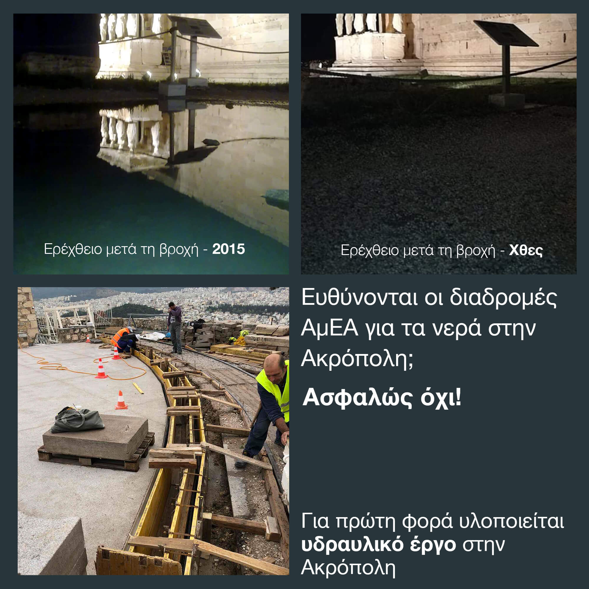 Η αλήθεια για τα νερά στην Ακρόπολη
