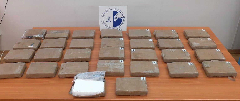 Κατασχέθηκαν -35- κιλά κοκαΐνης σε εμπορευματοκιβώτιο στο λιμάνι του Πειραιά
