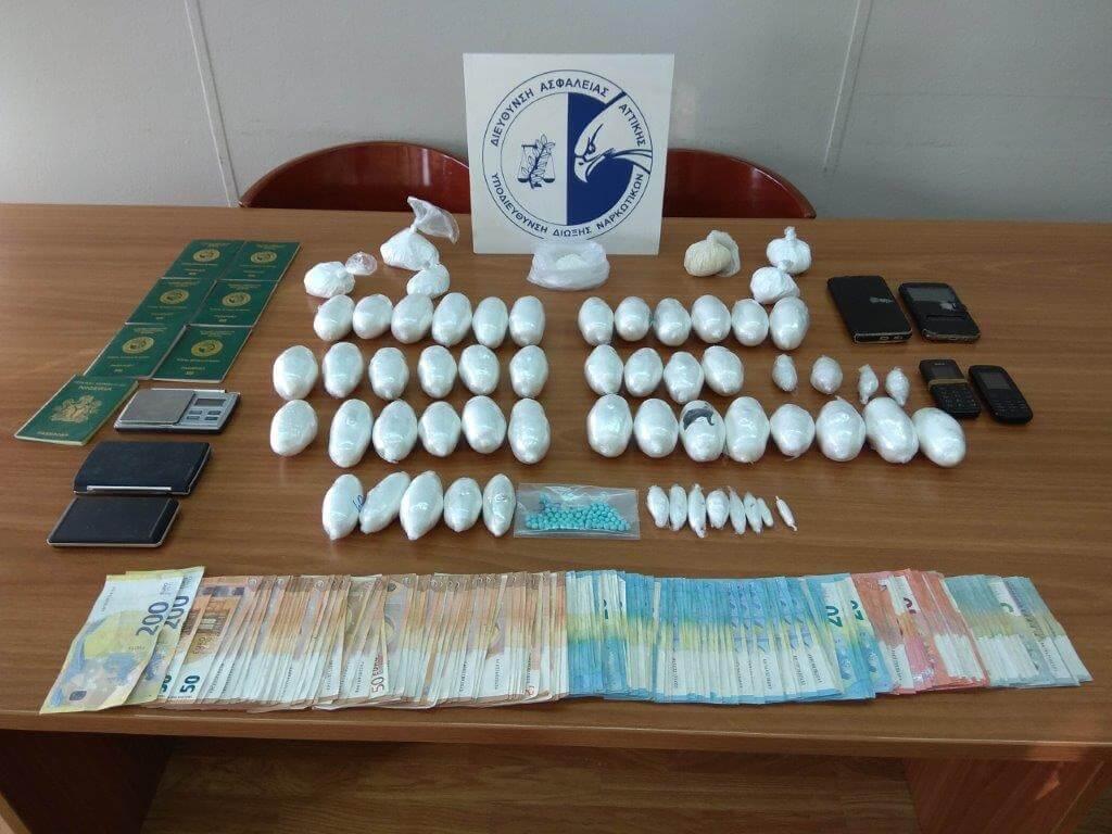 Συνελήφθησαν 2 αλλοδαποί για διακίνηση κοκαΐνης - ηρωίνης σε Κυψέλη και Άγιο Παντελεήμονα