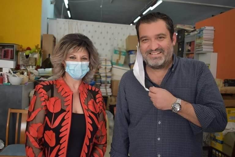 Ο Μιχάλης Λιβανός στο πλευρό του Κοινωνικού Ιατρείου Αλληλεγγύης Σαλαμίνας