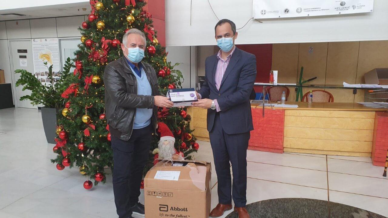 Δήμος Ελευσίνας : Δωρεά 1000 τεστ ανίχνευσης στο Θριάσιο Νοσοκομείο