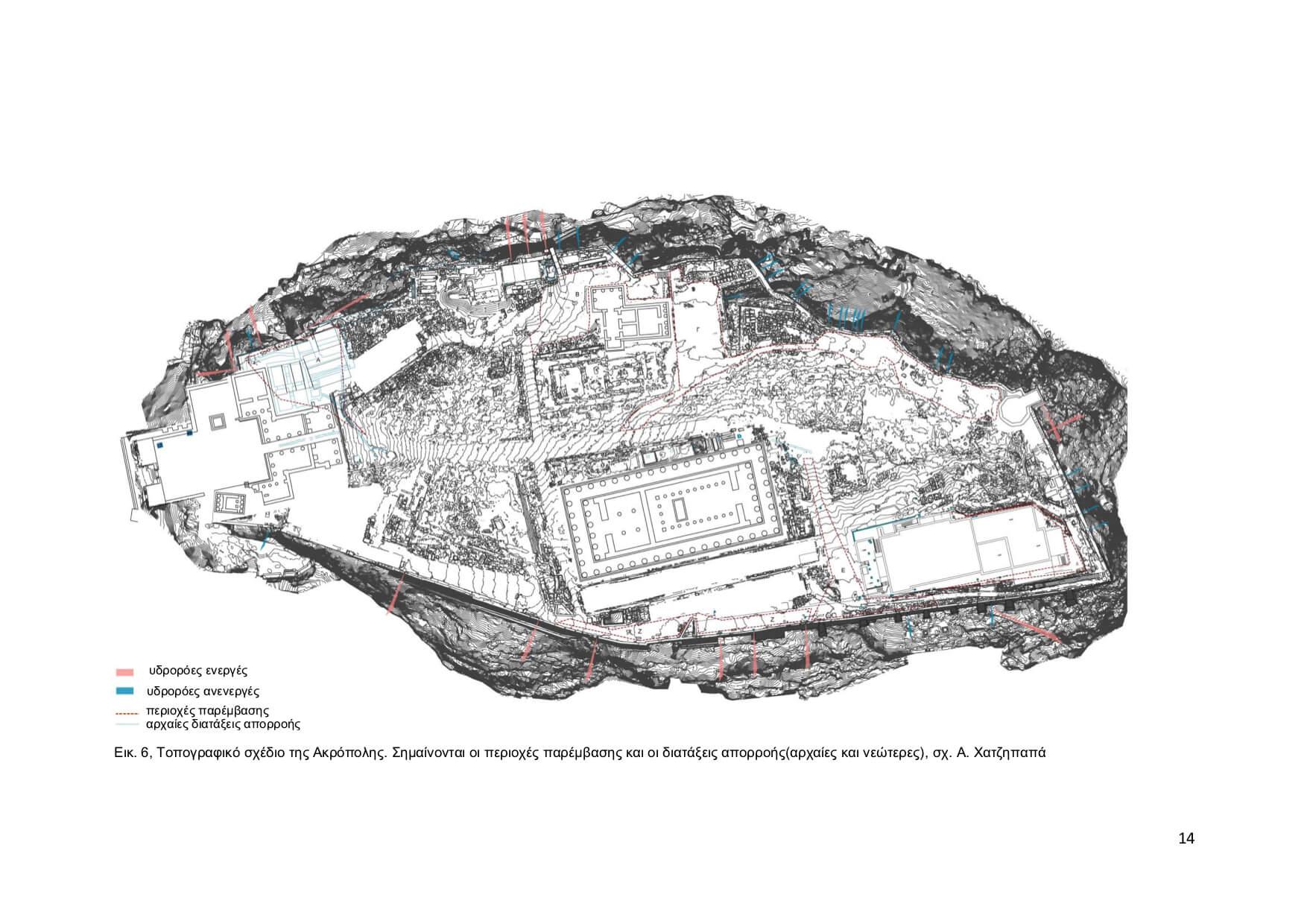 Ενημερωτικό σημείωμα σχετικά με την διευθέτηση ομβρίων της Ακρόπολης