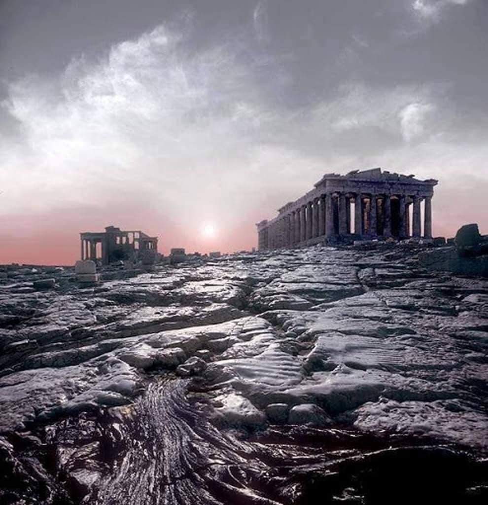 Η πλημμυρισμένη Ακρόπολη