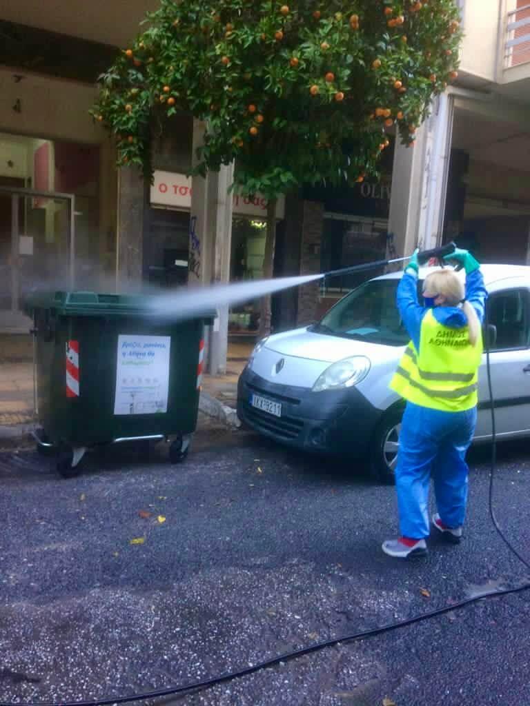 Μεγάλη δράση καθαριότητας-απολύμανσης του Δήμου Αθηναίων στο Κουκάκι