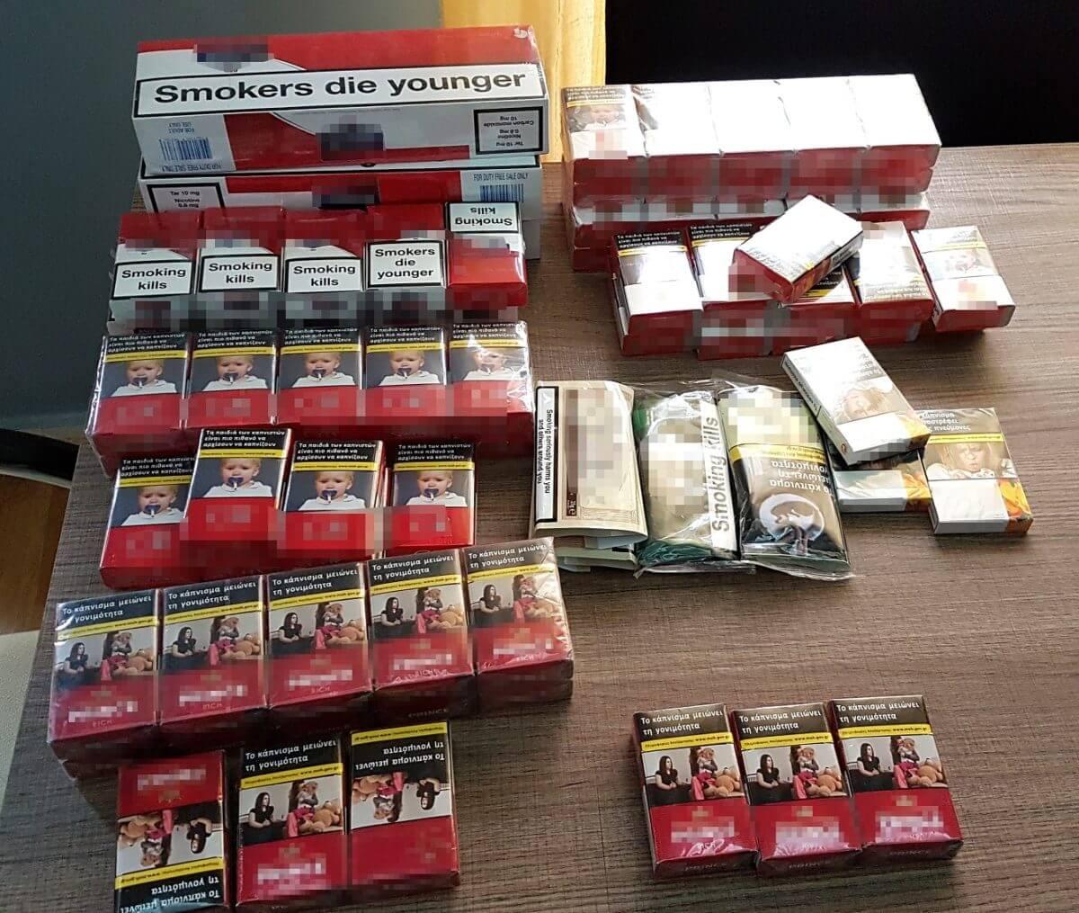 Πειραιάς : Συνελήφθη με 7.720 αφορολόγητα πακέτα τσιγάρα και 197 συσκευασίες καπνού