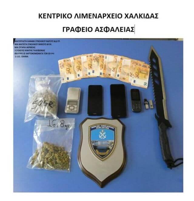 Χαλκίδα : 2 συλλήψεις για όπλα και ναρκωτικά