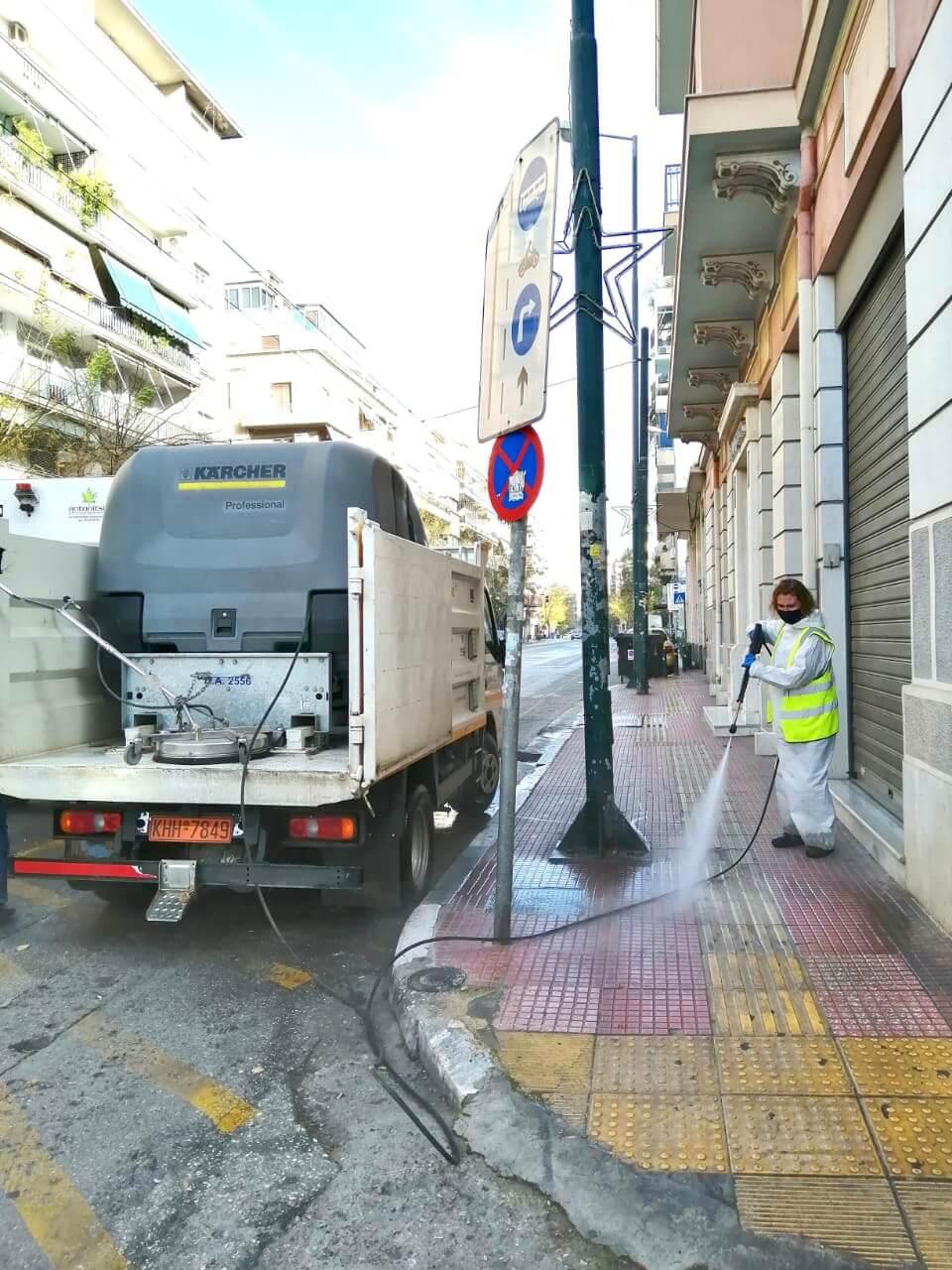 Δήμος Αθηναίων : Στην Κυψέλη η πρώτη μεγάλη επιχείρηση καθαριότητας για το 2021