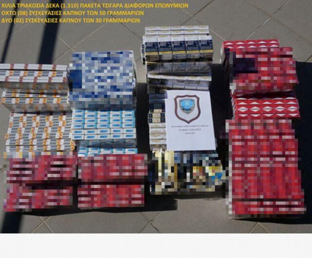 Χαλκίδα : Συνέλαβαν 74χρονο για λαθρεμπόριο καπνού