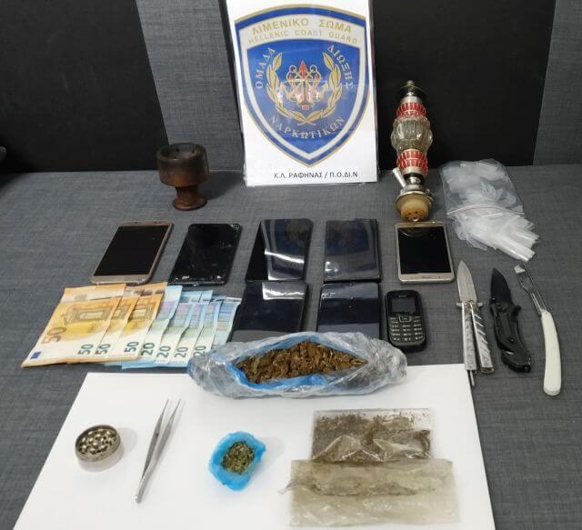 5 συλλήψεις στα Κάτω Πατήσια για ναρκωτικά και όπλα