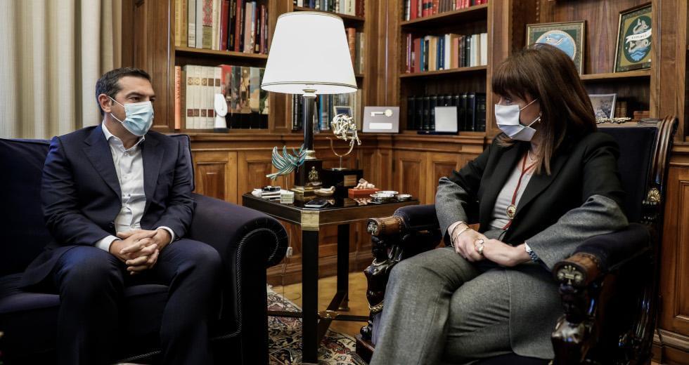 Σακελλαροπούλου σε Τσίπρα : Σε σύγκριση με άλλες χώρες, η Ελλάδα τα έχει πάε καλά ως τώρα στη διαχείριση της πανδημίας