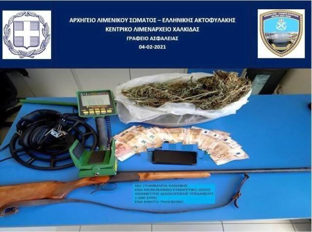 Χαλκίδα: Σύλληψη 71χρονου για όπλα και ναρκωτικά