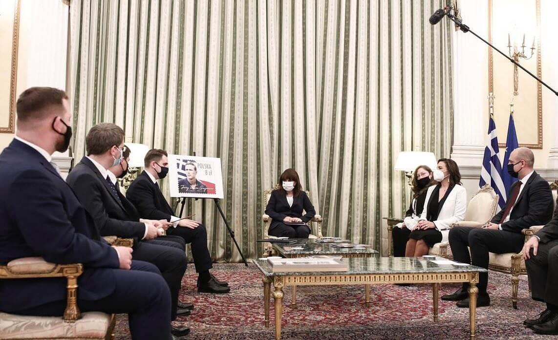 Συνάντηση με τους επικεφαλής των Κοινοβουλευτικών Ομάδων Φιλίας Ελλάδας-Πολωνίας