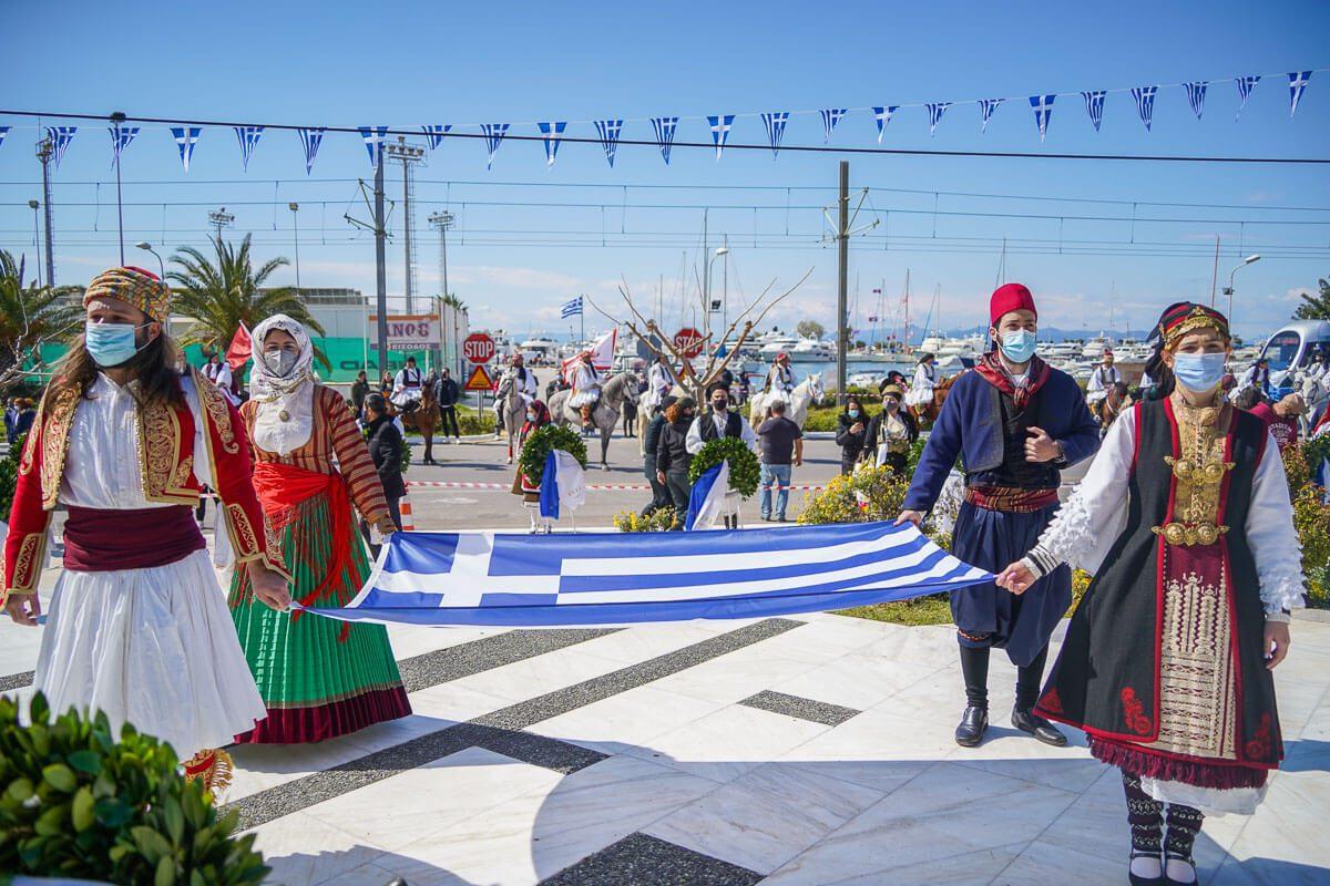 Γλυφάδα: Ρίγη συγκίνησης για τον εορτασμό της ιστορικής εθνικής επετείου