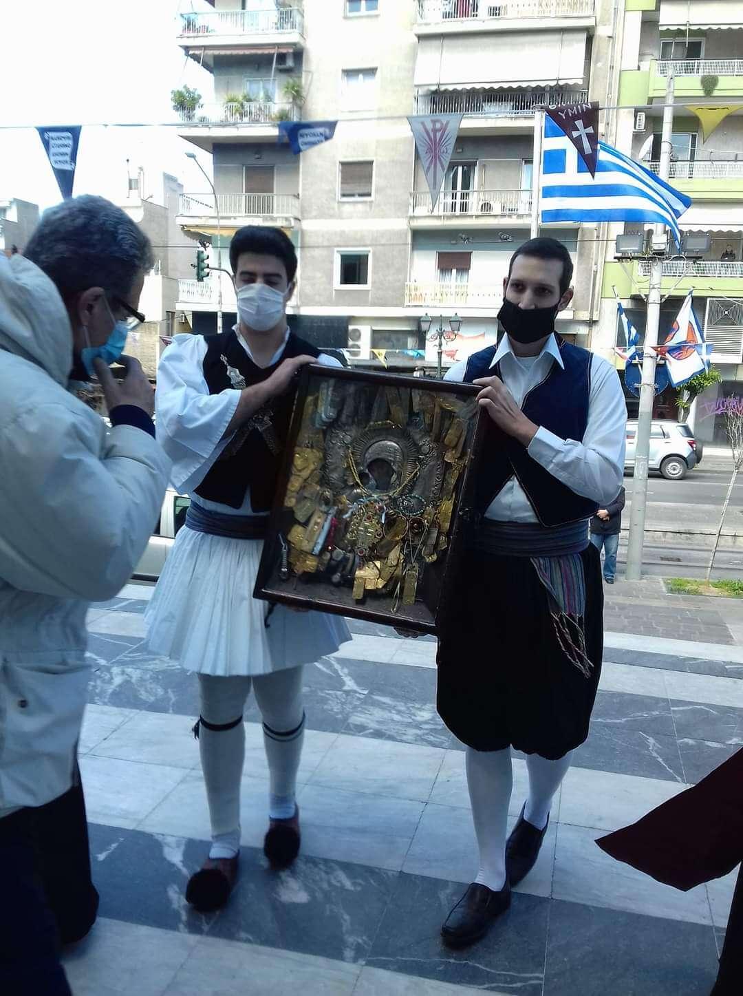 Πειραιάς: Στον Ιερό Ναό Ευαγγελίστριας η εικόνα της Παναγίας