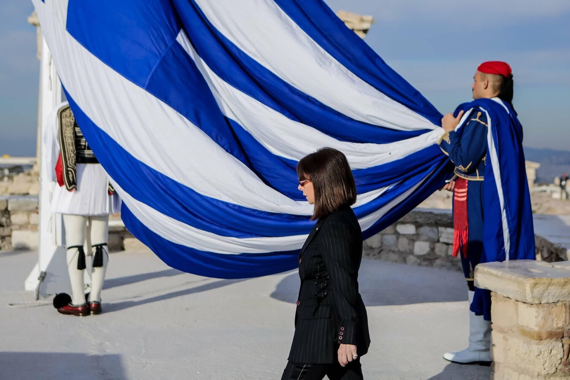 Σακελλαροπούλου: «Η δύναμη του έθνους μας βρίσκεται στην ενότητα και την αλληλεγγύη»