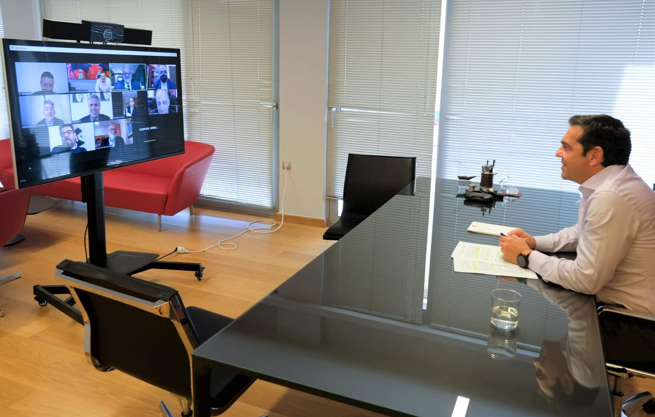 Συνάντηση του Προέδρου του ΣΥΡΙΖΑ - Αλ. Τσίπρα με τη Συντονιστική Επιτροπή της Ολομέλειας των Δικηγορικών Συλλόγων