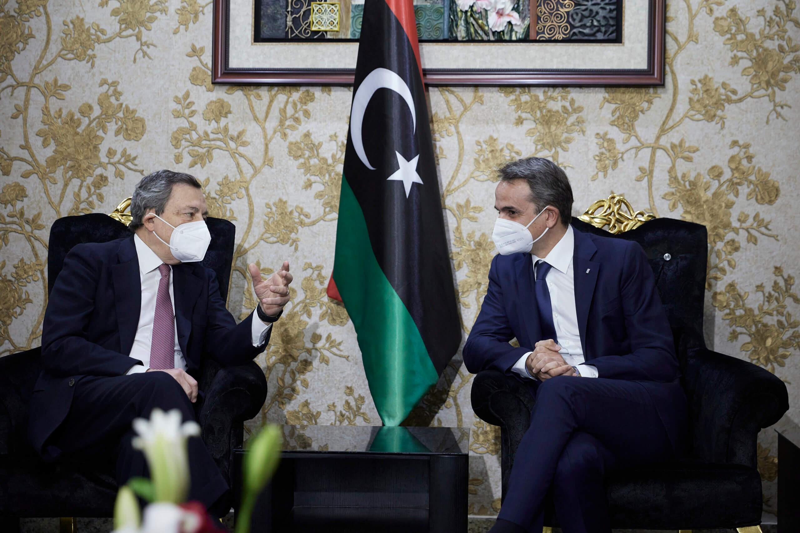 Συνάντηση Μητσοτάκη-Ντράγκι στη Λιβύη