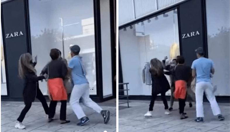 ΕΠΟΣ! Πιάστηκαν μαλλί με μαλλί έξω από πολυκατάστημα στη Γλυφάδα