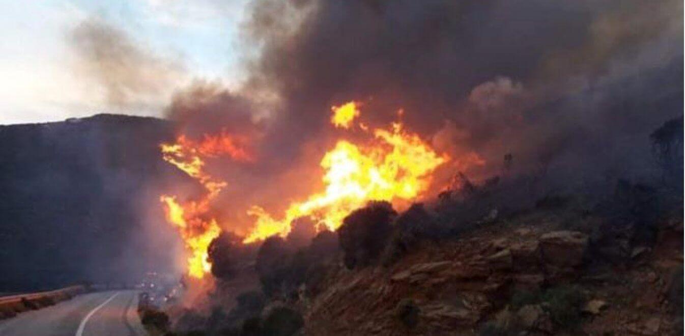 Ενημέρωση για την πυρκαγιά στην Άνδρο