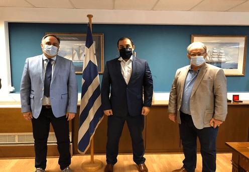 Σαλαμίνα: Κοινή επίσκεψη Παναγόπουλου - Μαρκόπουλου στον προβλήτα Καματερού