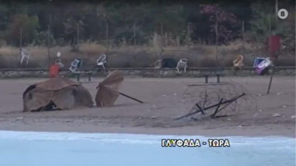 Επεισόδια στη Γλυφάδα:  Έβαλαν φωτιά σε ομπρέλες σε beach party και πέταξαν πέτρες στην Πυροσβεστική!