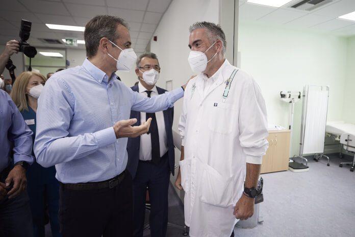 Ο Κυριάκος Μητσοτάκης στα εγκαίνια του Κέντρου Υγείας Κερατσινίου